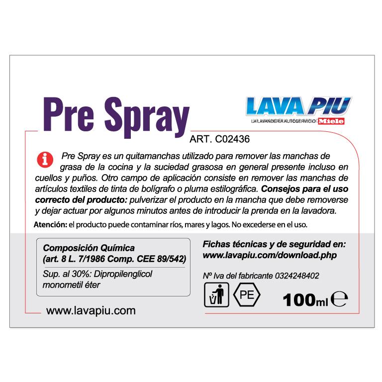 Pre-spray